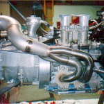 12A Rotary Engine, mounted with Swift header installed.
