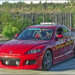 This RX-8 pace car is currently on display on the auto show circuit. You can see some of the build-up photos and also photos at the 2005 LA and San Francisco auto shows by clicking the image above.